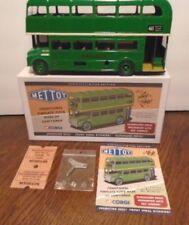 NEW, VINTAGE, CORGI, METTOY GREEN LONDON ROUTEMASTER TIN BUS CLOCKWORK DRIVEN
