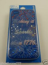 For Iphone i phone 4 4S All American USA Bling fireworks  crystal case Patriotic