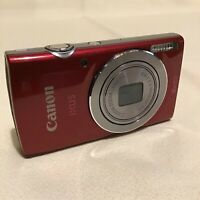 CANON DIGITAL IXUS 145 IN RED WITH CHARGER AND BATTERY