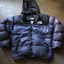 Mens The North Face TNF Nuptse 700 Dark Blue Black Down Puffer Puffy Jacket Sz L
