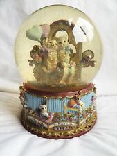 Marjorie Sarnat Carousel Waltz San Francisco Music Box Company Snow Globe Cats