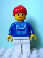 LEGO Minifig par024 @@ Jogging Suit - White Legs, Red Ponytail Hair 1254 6418