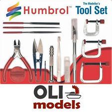 Modeller's MEDIUM TOOL SET Cutter/Knife/Tweezers/Files/Clamps/Drill HUMBROL 9159