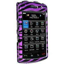 AMZER Purple Snap On Crystal Hard Belt Clip Case Cover for BlackBerry Storm 9530
