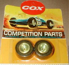 Cox Soft Rear Super Slicks with Aluminum Wheels 1 Pair  # 3274 Vintage 1/32 NOS