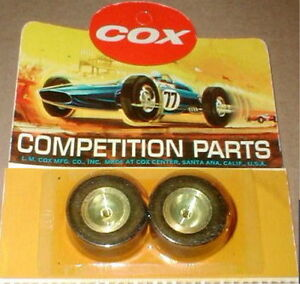 Cox Soft Rear Super Slicks with Aluminum Wheels 1 Pair  # 3272 Vintage 1/24 NOS