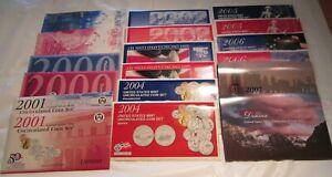 1999 to 2007 Mint set U.S. Mint P & D Uncirculated 9 sets COA 45 State Quarters