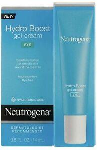 Neutrogena Hydro Boost Eye Gel-Cream with Hyaluronic Acid, .5 oz FAST SHIPPING**