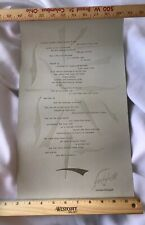 Lawrence Ferlinghetti SIGNED broadside 2003 from Coney Island of the Mind (new)