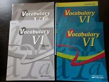 A Beka 12th Grade Vocabulary VI 4th Edition Student + Teacher set