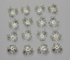 200Pcs Silver CLOVER FLOWER METAL BEAD CAP FILIGREE BEADS 12mm DF865