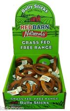 35 Count RedBarn BULLY RINGS Dog Chews Treats Sticks Grass Fed Cattle NATURAL