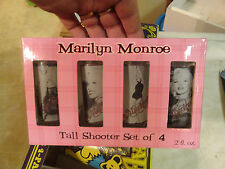 Marilyn Monroe Tall Shooter Glasses (4 Pc. Set) New in Box