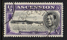 ASCENSION 1938-53 ½d WITH RE-ENTRY CW1a FINE USED.