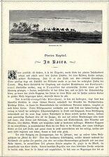 Kamel-Karawane am Nil * Orient *  Originalblatt von 1884