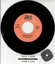 "BOB MARLEY  I Know A Place  7"" 45 rpm record + juke box title strip NEW RARE!"