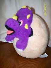 Universal Studios Jurassic Park PURPLE Triceratops Dinosaur Hatched Egg Plush