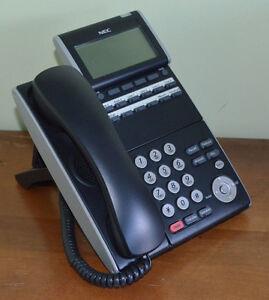1 YEAR WARRANTY NEC DTL-12D-1 BK TEL DT300 Phone DLV(XD)Z-Y(BK) Black Tested