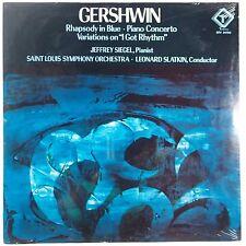 GERSHWIN: Rhapsody Blue SIEGEL Piano Slatkin SEALED Turnabout Vox STEREO LP