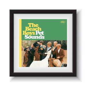 """The Beach Boy - Pet Sounds  12"""" Album Cover - Framed 16"""" x 16"""""""