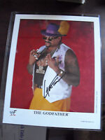 WWF WWE Wrestling Superstar The Godfather Signed 8x10 Photograph LOOK