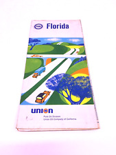 1968 Pure Oil Florida Vintage Road Map 🗺