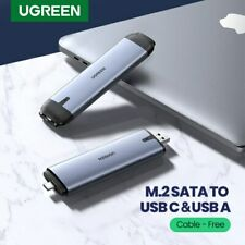 Ugreen SSD Case 6Gbps M.2 SATA to USB C 3.1 USB 3.0 Adapter Hard Drive Enclosure