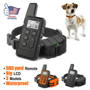 Dog Training Collar Pet Electric Shock Collar Waterproof with Remote For Dogs UU