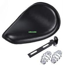 Leather Solo Seat Gold Torsion Spring Mounting Bracket For Harley Bobber Yamaha