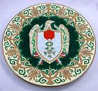 Grand plat en émaux de Longwy, décor Légion d'honneur, Empire.