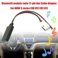 bluetooth 12-pin Aux Audio Cable Adapter Accessories For BMW 3 series E90 E92 E9
