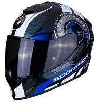 Casco Moto Scorpion Exo 1400 Air Torque 2BL Nero Bianco Blu taglia L