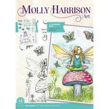Summer Day FLOWER FAIRY CLEAR Stamp Set Molly Harrison Art MH-STP-SUMD New