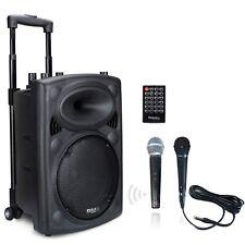 IBIZA PORT-10UHF Mobile Akku Box Sound Anlage Bluetooth USB MP3 SD Funkmikrofon