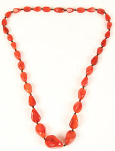 Vintage Amber Cherry Butterscotch Swirl Bakelite Hand Knotted Bead Strand Twist
