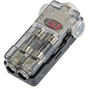 Digital AGU Fuse Power Amplifier Distribution Block (3) 1/0 Ga to (2) 4/8 GA USA