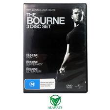 Bourne 3 Disc Set (DVD) Identity - Supremacy - Ultimatum - Matt Damon Trilogy