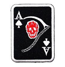 Ace Poker Devil Skull Black Jack Card  Harley Big Bike Tattoo Race IRON ON PATCH