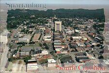 Spartanburg South Carolina, Aerial View of Downtown Buildings etc. --- Postcard