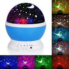 Night Lamp Rotation Light Moon Sky Star Kids Baby Nursery Projector Usb Lighting