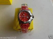 Invicta Men's 1411  Excursion Chronograph Red Dial Red Polyurethane Watch