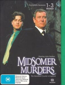 Midsomer Murders Season 1-3 (H,DVD,2000,7-Disc Set,Region ALL) includes booklets