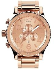 Genuine Nixon Watch 51-30 Chrono Rose Gold Men's A083-897 A083897 New Dial NWT