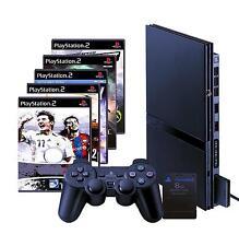 Sony playstation 2 slim noir (ps2) + 3 jeux + contrôleur + MEMORY CARD