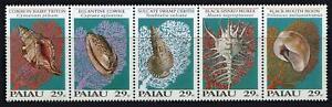 Palau: 1992 Seashells Strip of Five (301) MNH