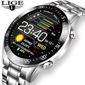 LIGE Smart Watch New Fashion Casual Sports Men Touch Luxury Fitness Waterproof
