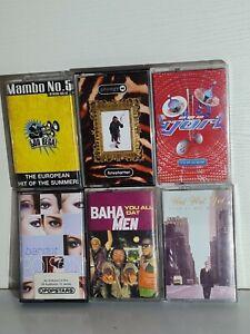 90's Pop Dance Music Cassette Tapes Singles Bundle x6 Bjork Prodigy Wet Wet Wet