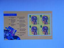 1999 SG 2072ab 63p Head Perf 13.5 x 14 Prestige Booklet Pane World Changers DX23