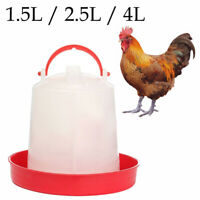 Plastic Chicken Quail Poultry Chick Hen Drinker Food Feeder Waterer New