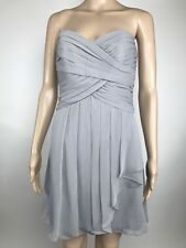 David's Bridal Bridesmaid Dress Size 2 Special Occasion Strapless Party Gray